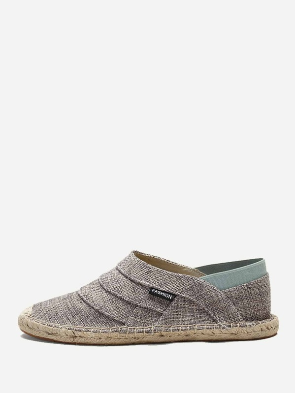 Men Slip On Espadrille Loafers