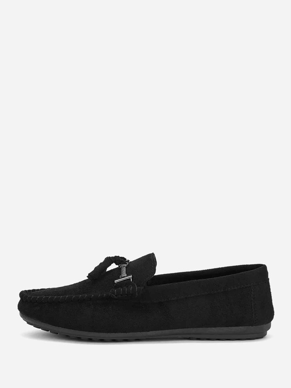 Men Solid Slip On Loafers