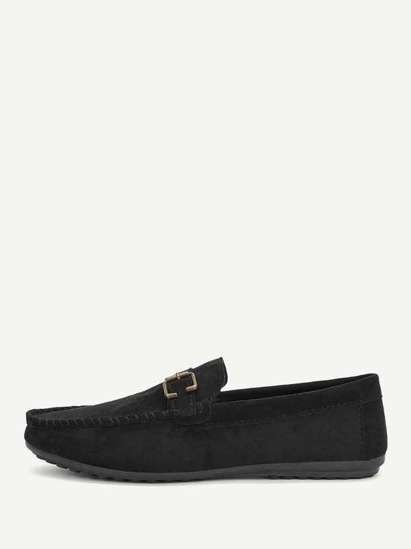 Men Buckle Decor Slip On Loafers