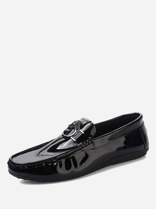 Men Patent Slip On Loafers