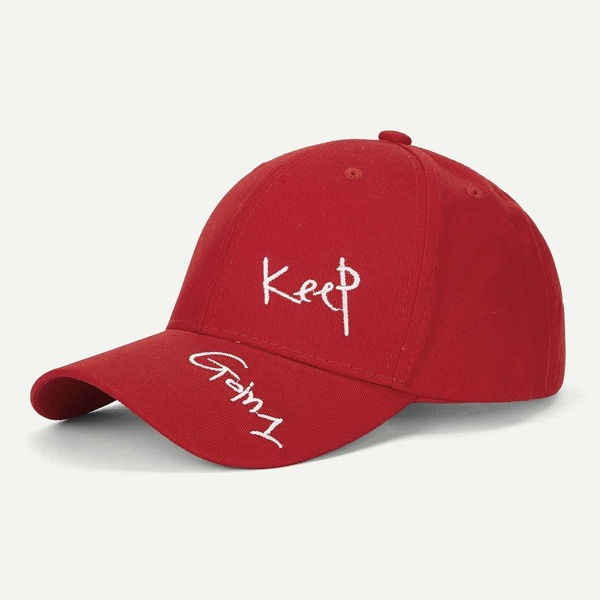 Men Letter Embroidery Baseball Cap