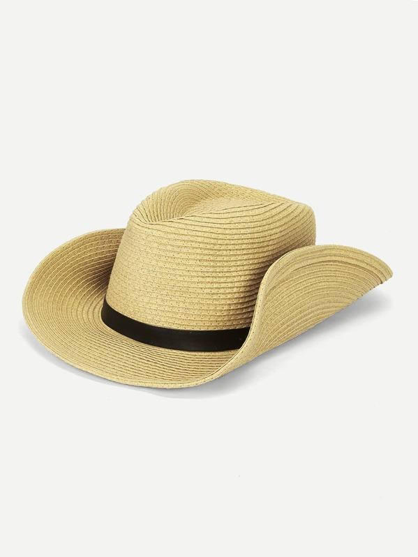 Men Buckle Decor Cowboy Hat