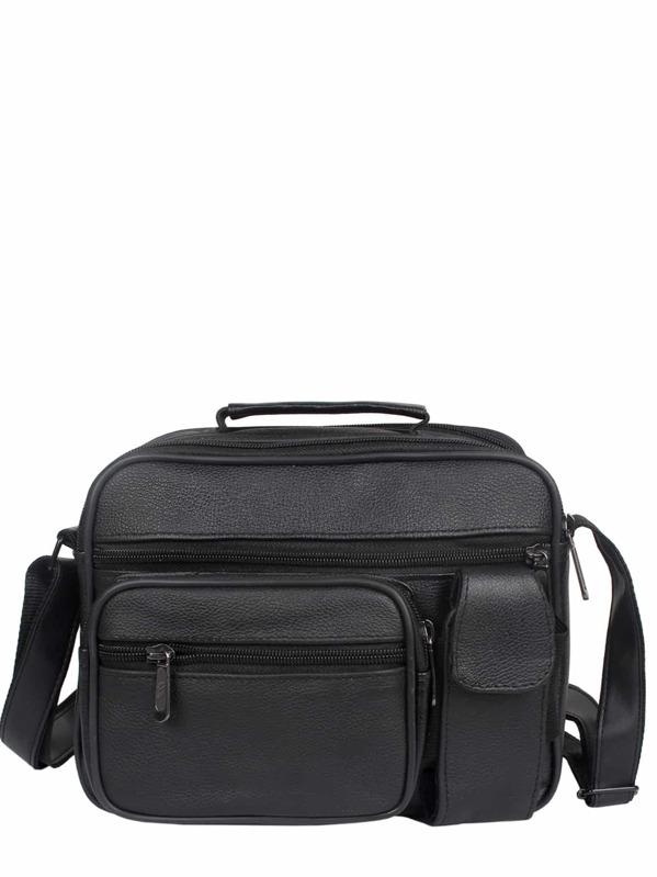 Men Multi Pocket Zip Front Crossbody Bag