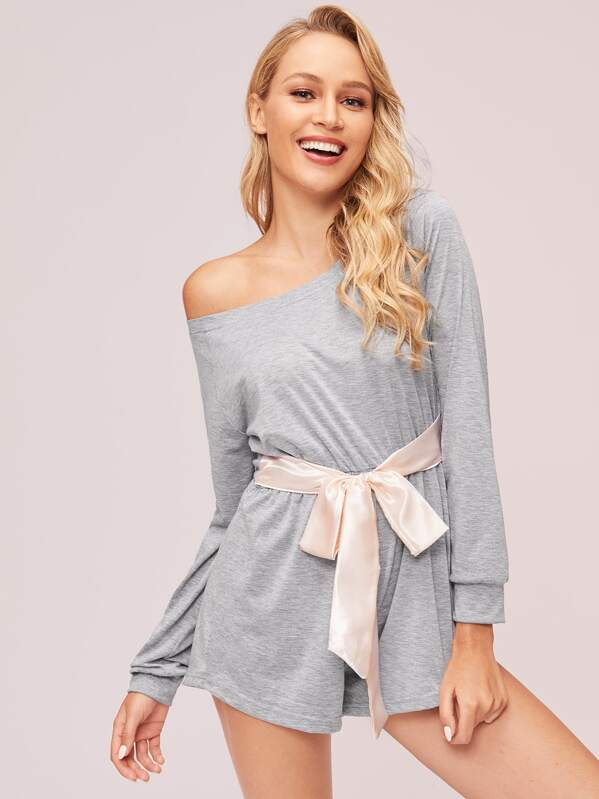 Ribbon Bow Front Romper
