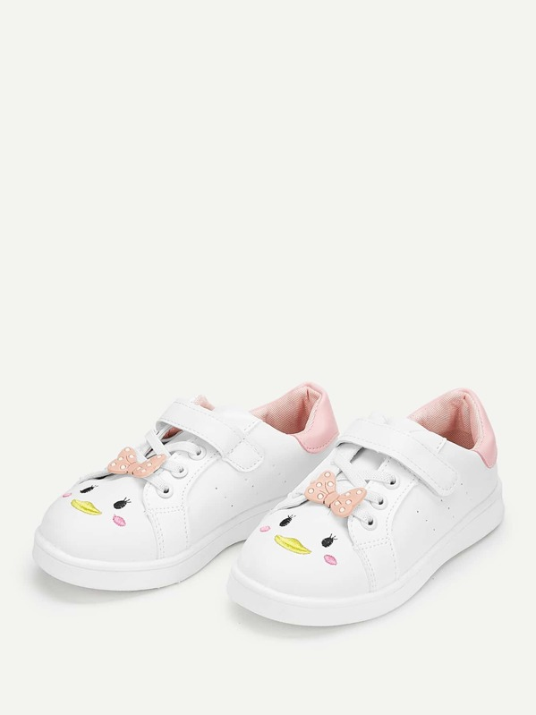 Baby Bow Decor Embroidered Detail Sneakers