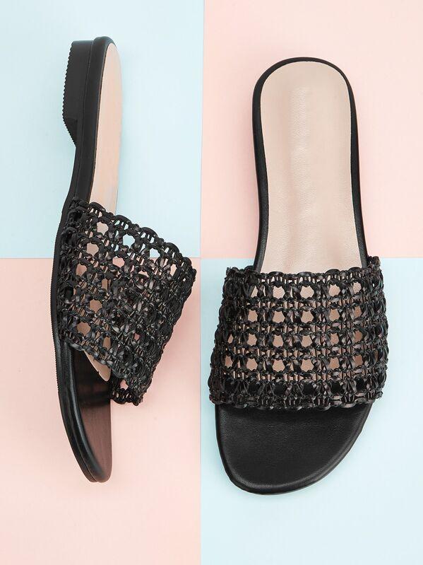 Lace Crochet Flat Slippers