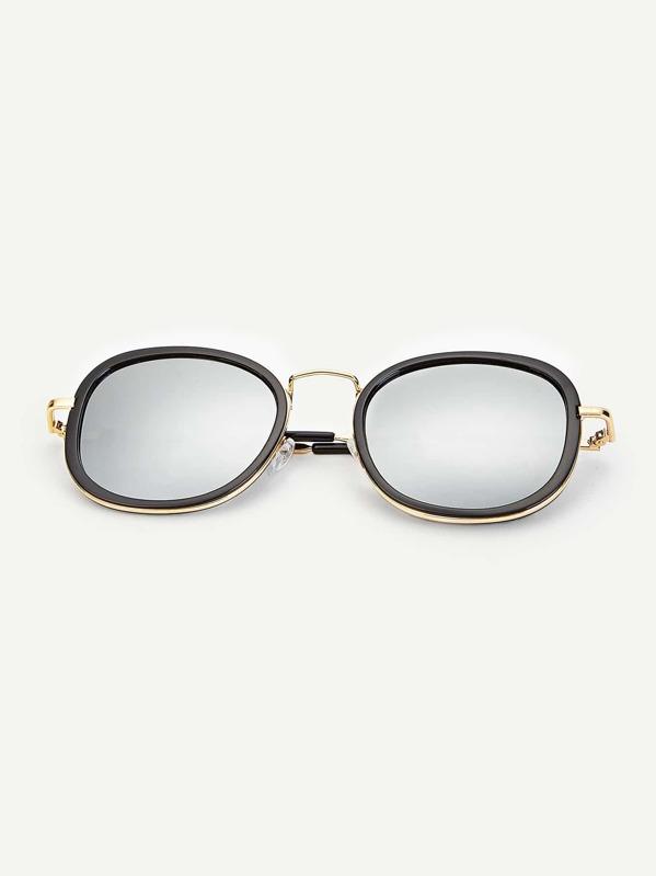 Men Double Frame Tinted Lens Sunglasses