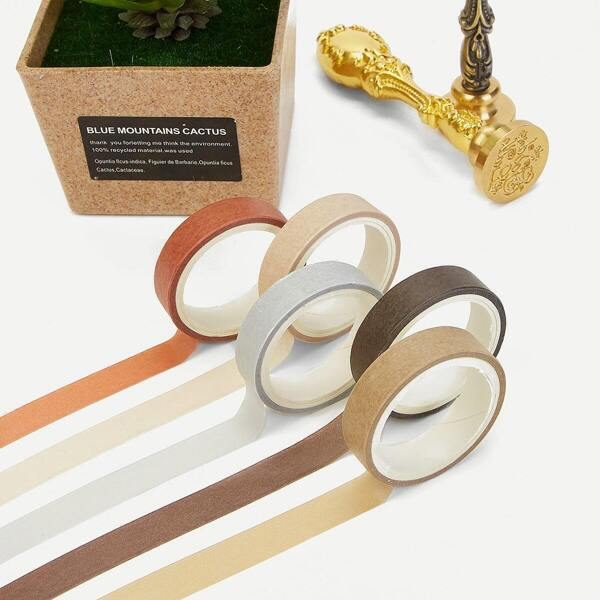 Solid Masking Tape Set 5rolls