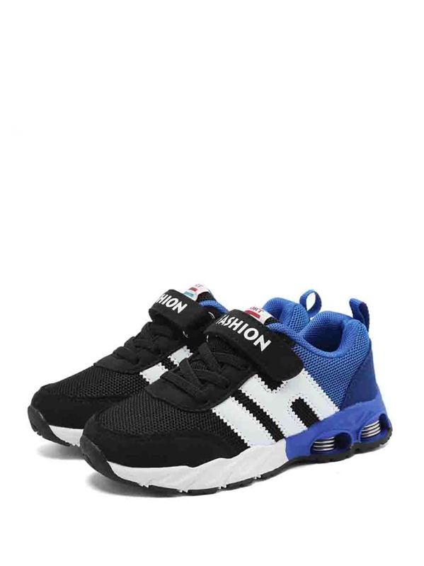 Toddler Kids Striped Detail Mesh Trainers