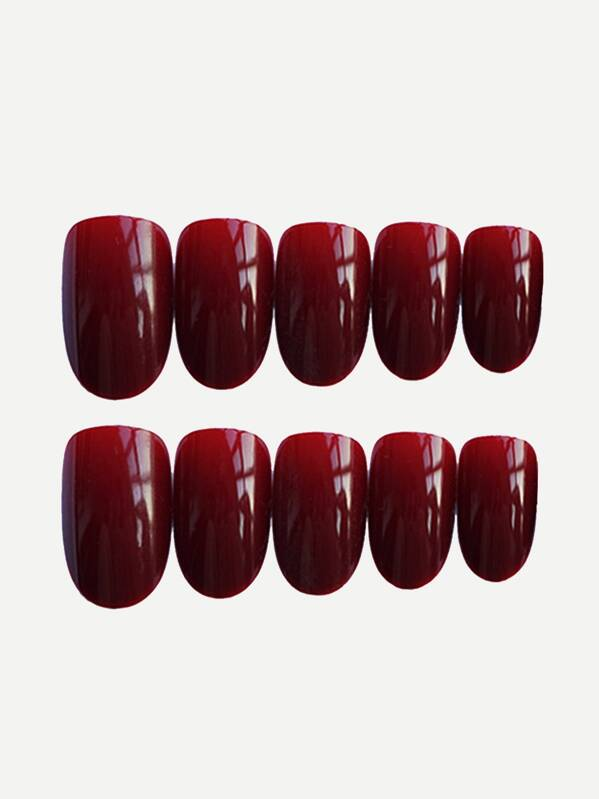 Plain Fake Nail & Double Side Tape 25pack, null