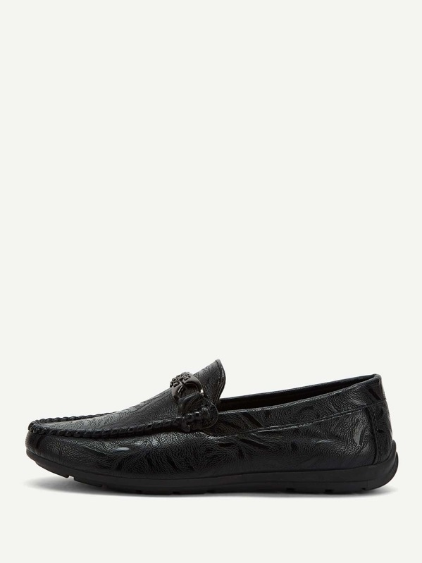 Men Seam Detail Slip On Loafers