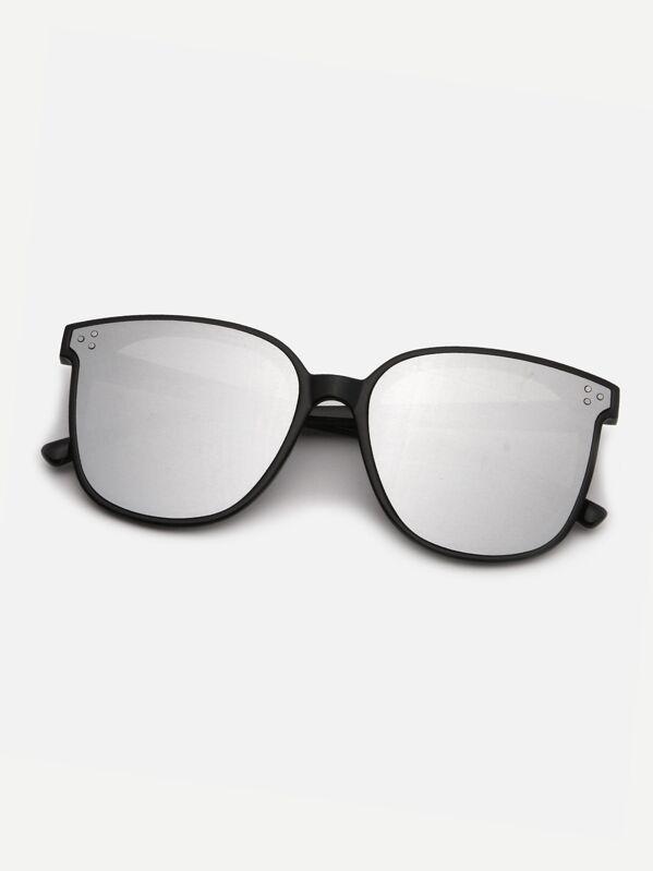 Men Plain Frame Tinted Lens Sunglasses