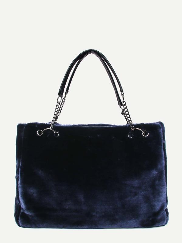 Fuzzy Chain Tote Bag
