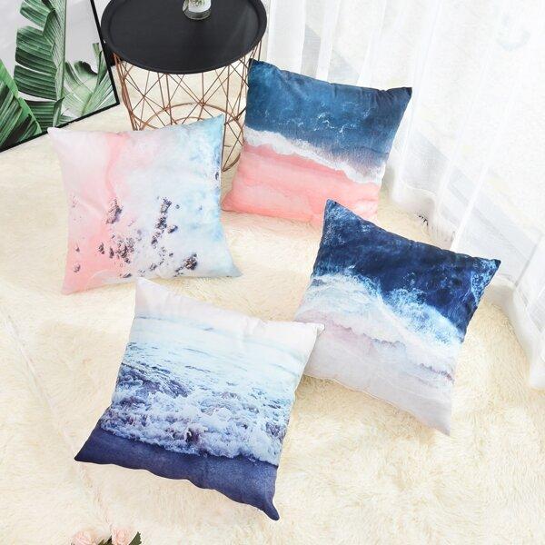 Sea Print Cushion Cover 1pc