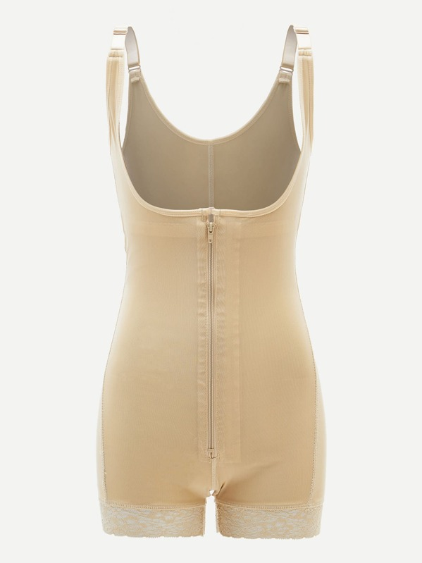 Zip-up Shapewear Bodysuit, Nude