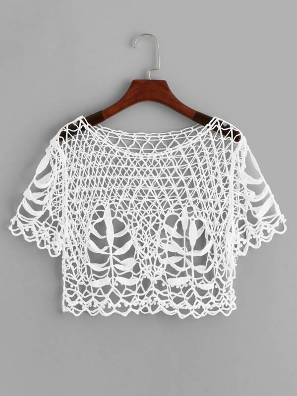 Crochet Sheer Top, null