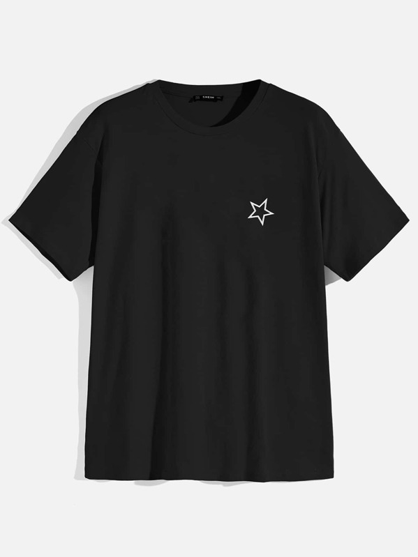 Men Star Embroidered Short Sleeve tee