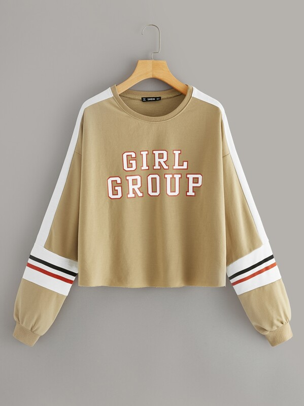Пуловер в полоску с заниженной линией плеч