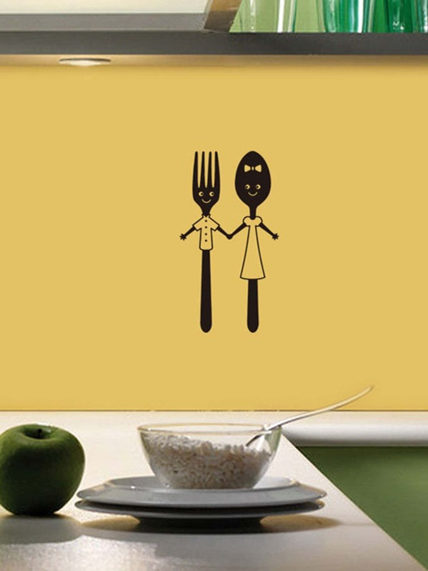 Cutlery Print Wall Sticker