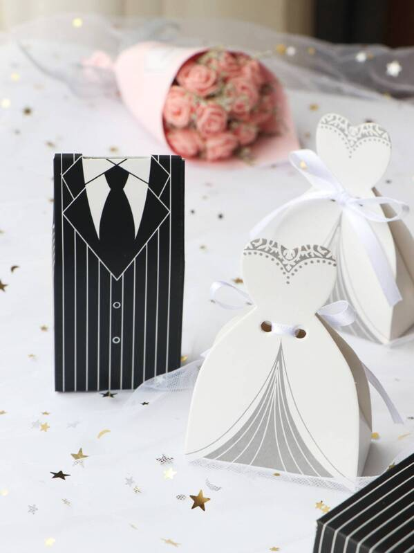 Bride & Groom Candy Box 5pairs