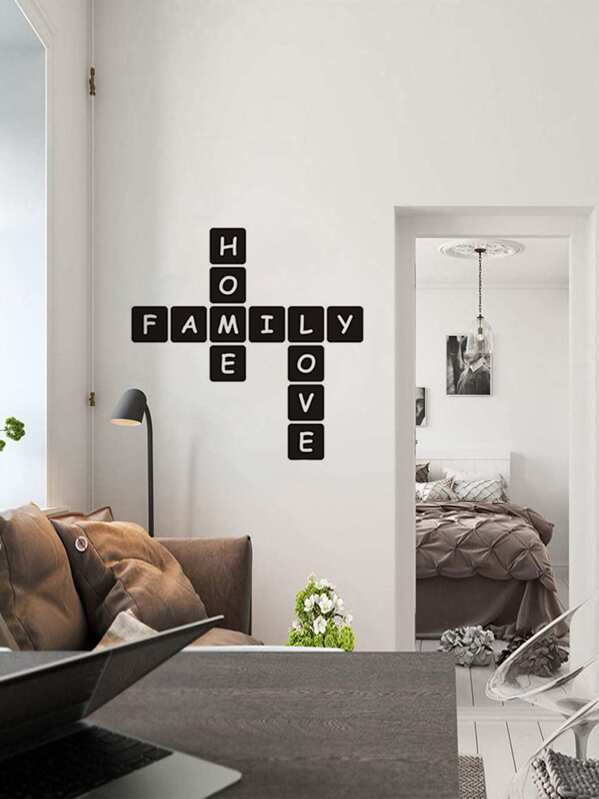 Letter Print Wall Sticker