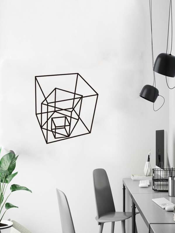 Geometric Pattern Print Wall Sticker