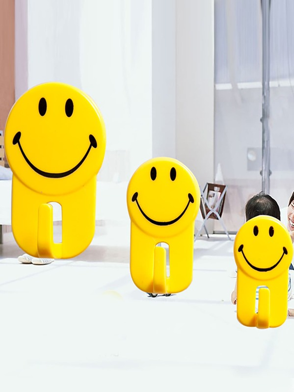 Smiley Face Wall Hook 3pcs