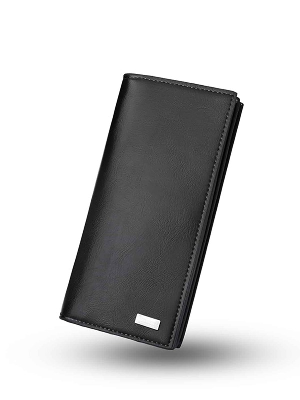 Men Fold Over PU Wallet, null