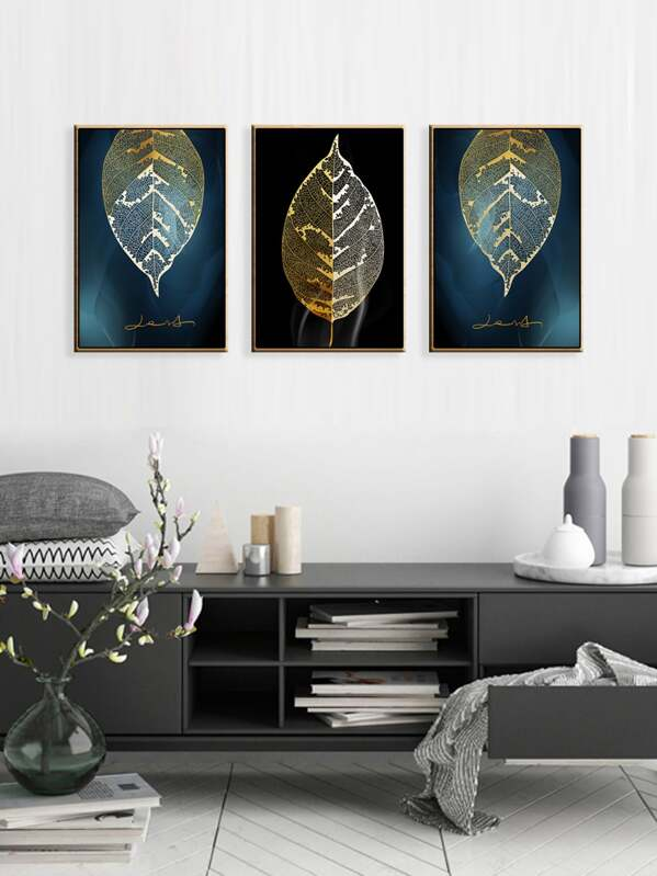 Leaf Wall Art Print 3pcs