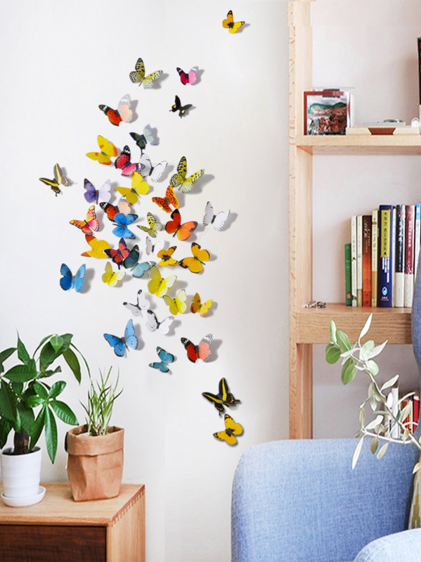 3D Butterfly Wall Sticker 2sheets