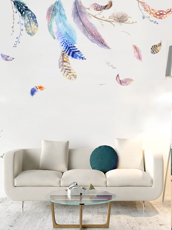 Feather Print Wall Art 2pcs