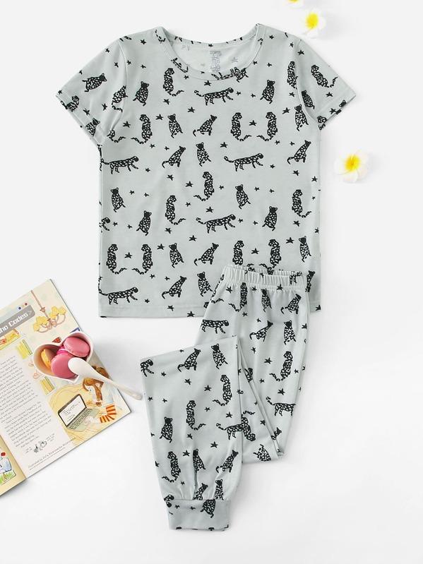 Boys Animal Print Pajama Set
