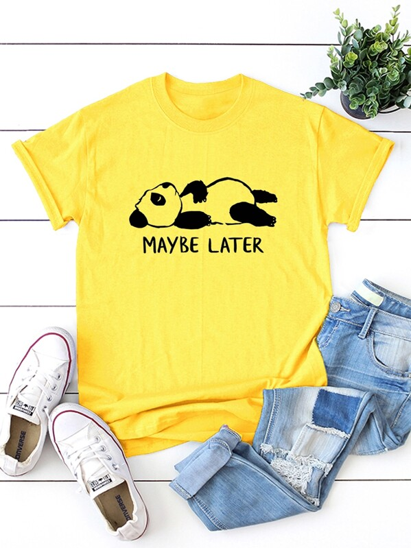Panda & Letter Print Tee, Larissa