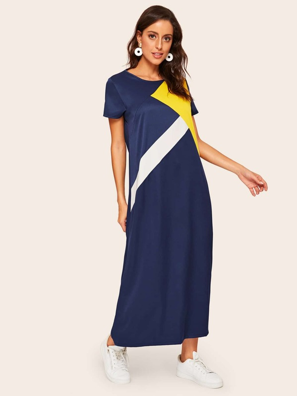 Color Block Dress, Multicolor, Mary P.