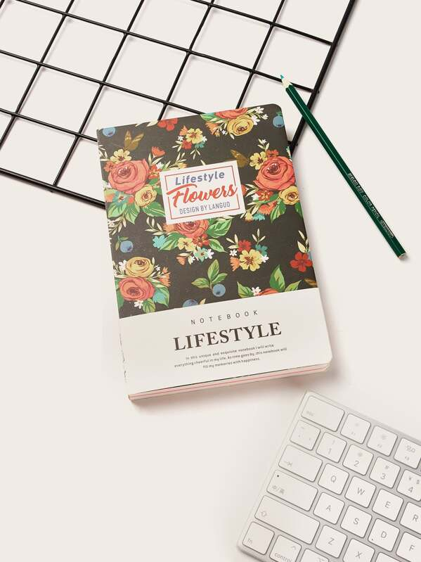 Rose Print Cover Notebook