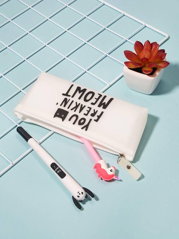 Letter Pattern Pencil Case