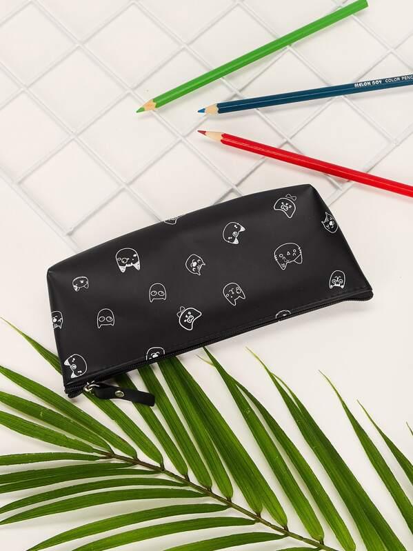 Cat Pattern Pencil Case