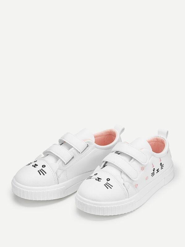 Baby Kids Double Velcro Strap Sneakers