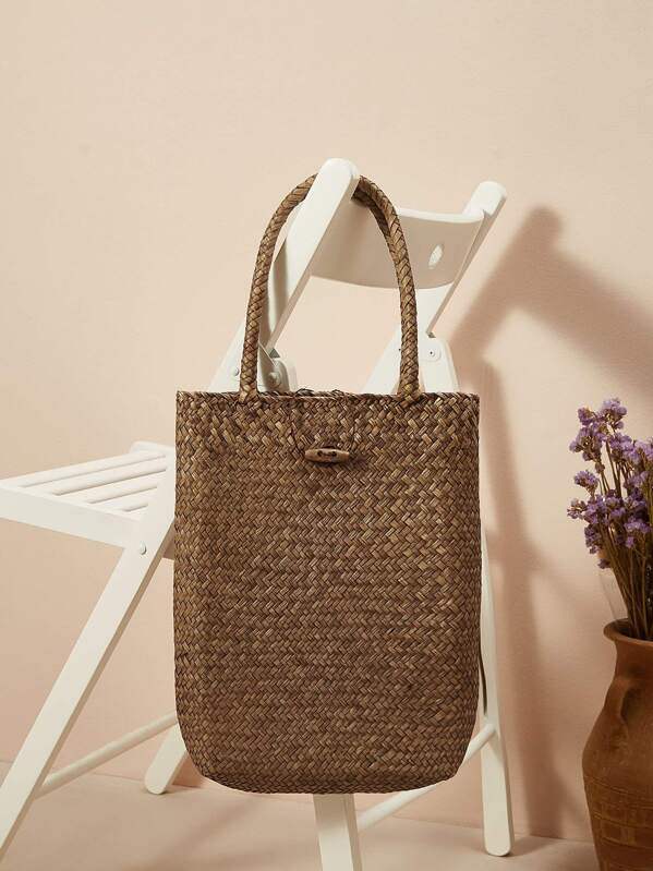 Woven Detail Tote Bag