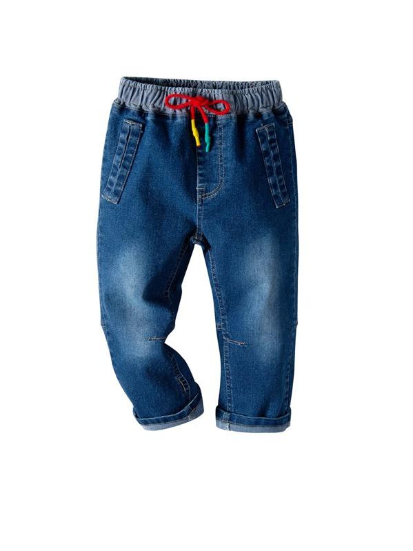Toddler Boys Dual Pocket Drawstring Jeans
