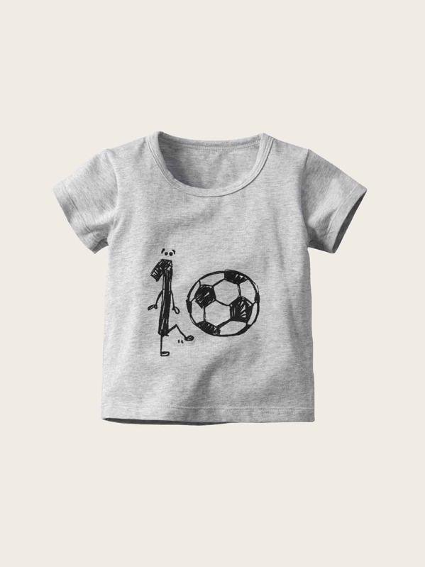 Toddler Boys Football Print Tee