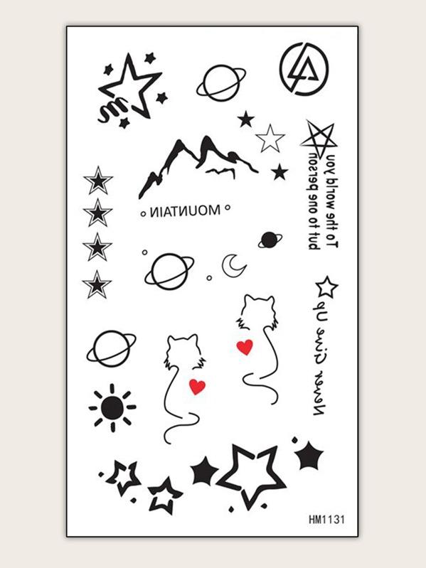 Mix Pattern Tattoo Sticker 1sheet