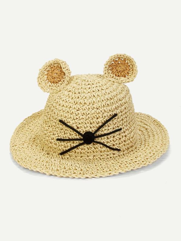 Kids Cute Woven Paper Hat