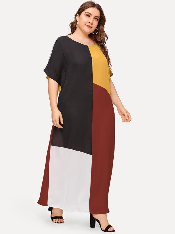 Plus Cut And Sew Maxi Dress, Franziska