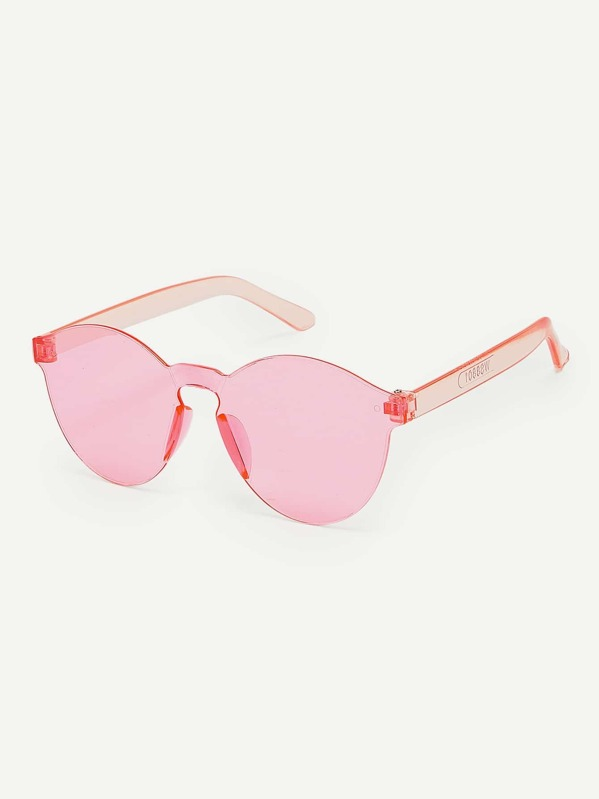 Kids Transparent Rimless Sunglasses, null