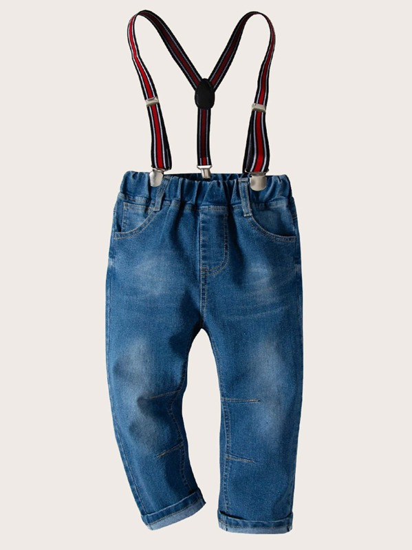 Toddler Boys Jeans With Suspenders