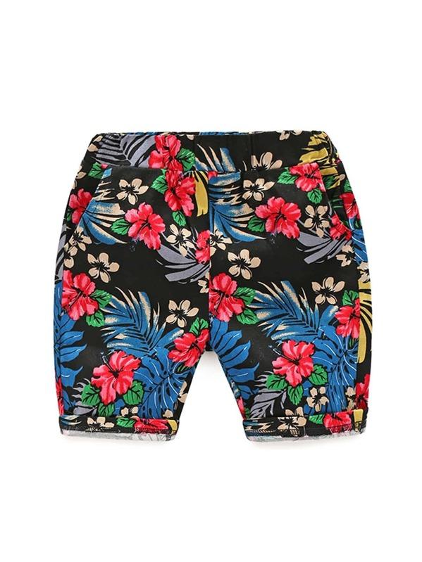 Toddler Boys Floral Print Shorts