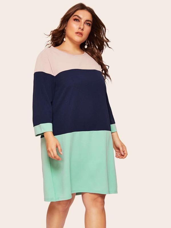 Plus Cut-and-sew Tunic Dress, Franziska