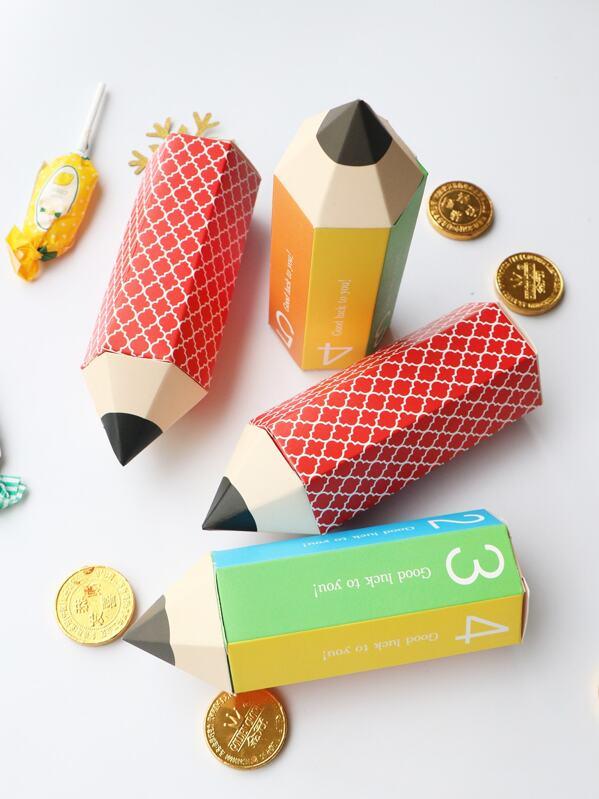 Random Pencil Shaped Candy Box 10pcs