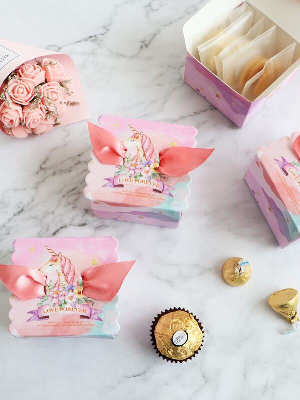 Unicorn Print Candy Box 10pcs